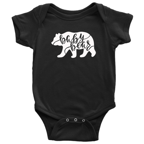 Baby Bear Shirts and Onesies T-shirt Baby Bodysuit Black NB