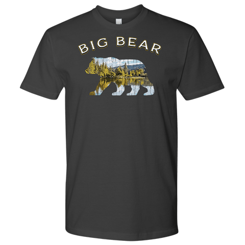 Image of Big Bear V.1 Men's Shirts T-shirt Next Level Mens Shirt Heavy Metal S