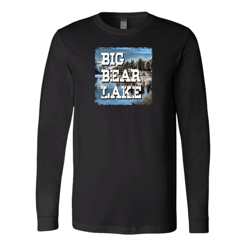 Image of Big Bear Lake V.1 Hoodies and Long Sleeve T-shirt Canvas Long Sleeve Shirt Black S