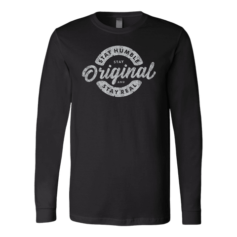 Image of Stay Real, Stay Original | Long Sleeves and Hoodies T-shirt Canvas Long Sleeve Shirt Black S