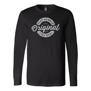 Stay Real, Stay Original | Long Sleeves and Hoodies T-shirt Canvas Long Sleeve Shirt Black S