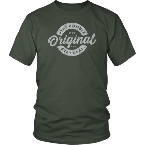 Image of Stay Real, Stay Original Mens Shirts T-shirt District Unisex Shirt Olive S
