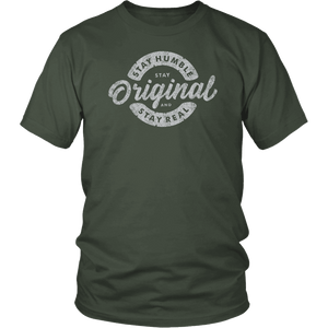 Stay Real, Stay Original Mens Shirts T-shirt District Unisex Shirt Olive S