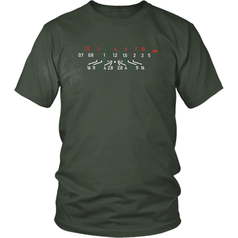 Image of Focal Length, District Shirts and Hoodies T-shirt District Unisex Shirt Olive S