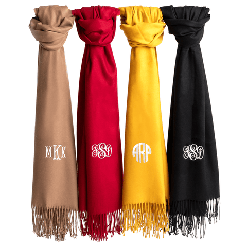Image of Handcrafted Monogram Scarf | Personalized Classic Elegance Monogrammed Personalized Products