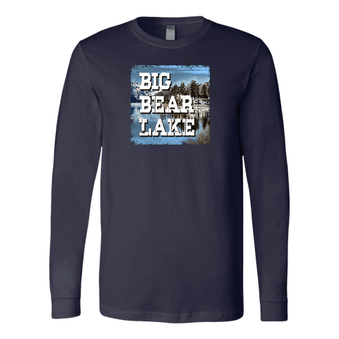 Image of Big Bear Lake V.1 Hoodies and Long Sleeve T-shirt Canvas Long Sleeve Shirt Navy S