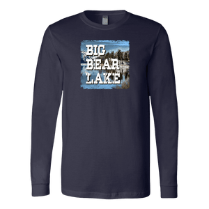 Big Bear Lake V.1 Hoodies and Long Sleeve T-shirt Canvas Long Sleeve Shirt Navy S