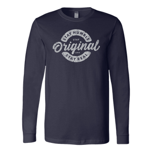 Stay Real, Stay Original | Long Sleeves and Hoodies T-shirt Canvas Long Sleeve Shirt Navy S