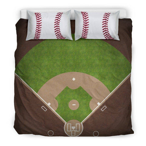 Image of Awesome Baseball Bedding, Black Bedding Set - Black - Black US King