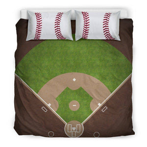Awesome Baseball Bedding, Black Bedding Set - Black - Black US King