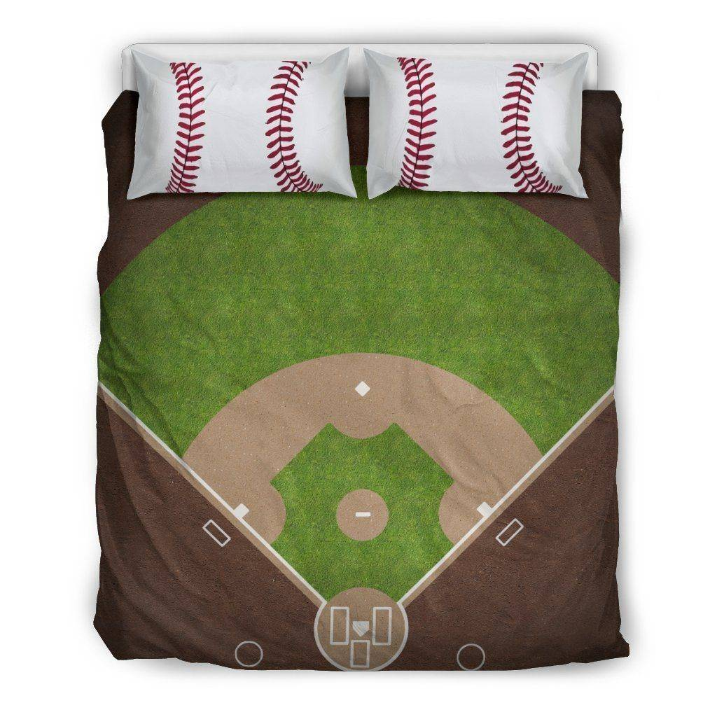 Awesome Baseball Bedding, Black Bedding Set - Black - Black US Queen/Full