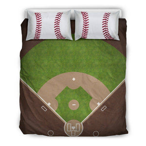 Baseball Lovers Bedding, Beige Bedding Set - Beige - Beige US Queen/Full