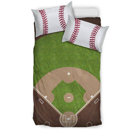 Image of Awesome Baseball Bedding, Black Bedding Set - Black - Black US Twin