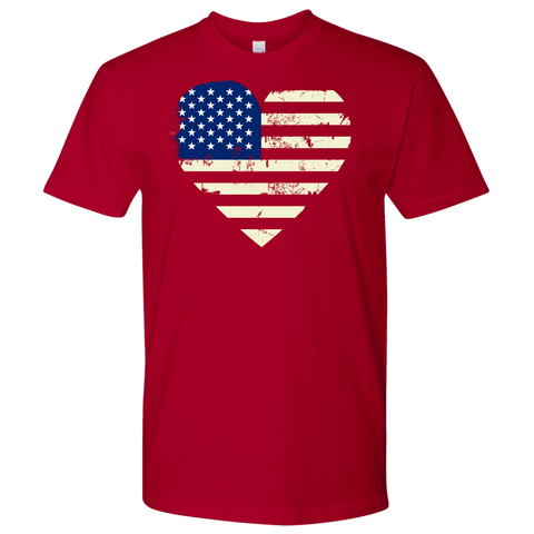 Love America Men's Shirts Red T-shirt Next Level Mens Shirt Red S