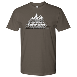 Big Bear V.2, Mens T-shirt Next Level Mens Shirt Warm Grey S
