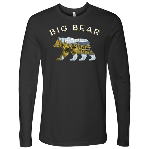 Image of Big Bear V.1 Men's Shirts T-shirt Next Level Mens Long Sleeve Heavy Metal S
