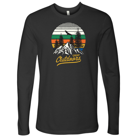 Image of Great Outdoors Shirts | Mens T-shirt Next Level Mens Long Sleeve Heavy Metal S
