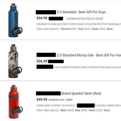 Image of BottleCooler, The BEST Insulated 12 oz. Bottle Holder, Protect Your Drinks This Summer Vacuum Flasks & Thermoses