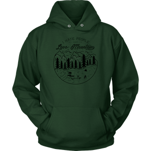 Love The Mountains Mens T-shirt Unisex Hoodie Dark Green S