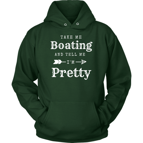 Image of Take Me Boating Womens Shirts T-shirt Unisex Hoodie Dark Green S