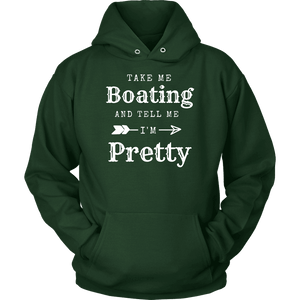 Take Me Boating Womens Shirts T-shirt Unisex Hoodie Dark Green S