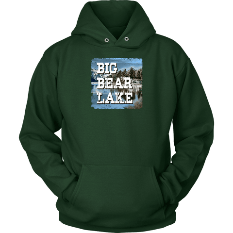 Image of Big Bear Lake V.1 Hoodies and Long Sleeve T-shirt Unisex Hoodie Dark Green S