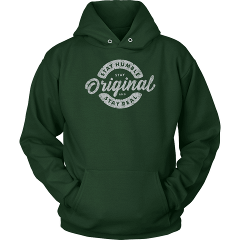 Image of Stay Real, Stay Original | Long Sleeves and Hoodies T-shirt Unisex Hoodie Dark Green S