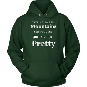To The Mountains Womens Shirts T-shirt Unisex Hoodie Dark Green S
