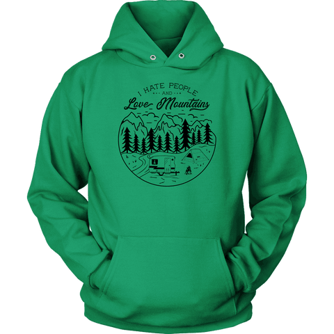 Image of Love The Mountains Womens T-shirt Unisex Hoodie Kelly Green S