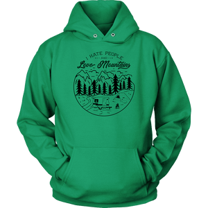 Love The Mountains Womens T-shirt Unisex Hoodie Kelly Green S