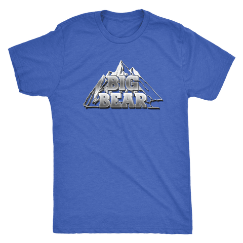 Image of Big Bear V.2, Mens T-shirt Next Level Mens Triblend Vintage Royal S