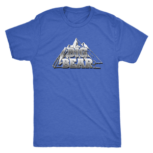 Big Bear V.2, Mens T-shirt Next Level Mens Triblend Vintage Royal S