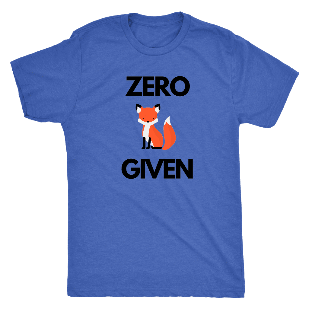 Zero Fox Given T-shirt Next Level Mens Triblend Vintage Royal S