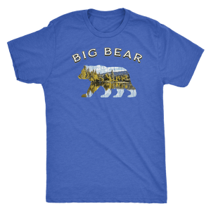 Big Bear V.1 Men's Shirts T-shirt Next Level Mens Triblend Vintage Royal S
