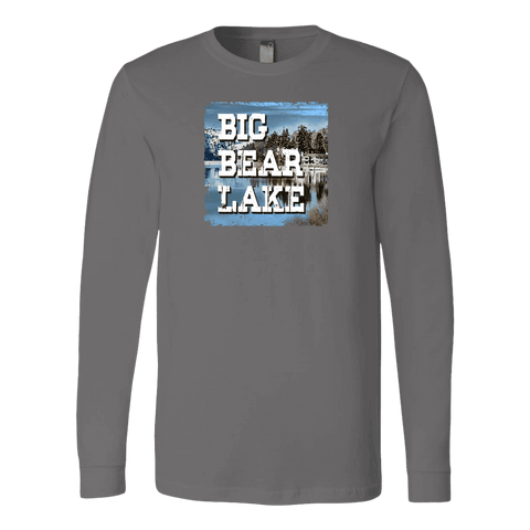 Image of Big Bear Lake V.1 Hoodies and Long Sleeve T-shirt Canvas Long Sleeve Shirt Asphalt S