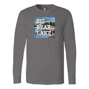 Big Bear Lake V.1 Hoodies and Long Sleeve T-shirt Canvas Long Sleeve Shirt Asphalt S