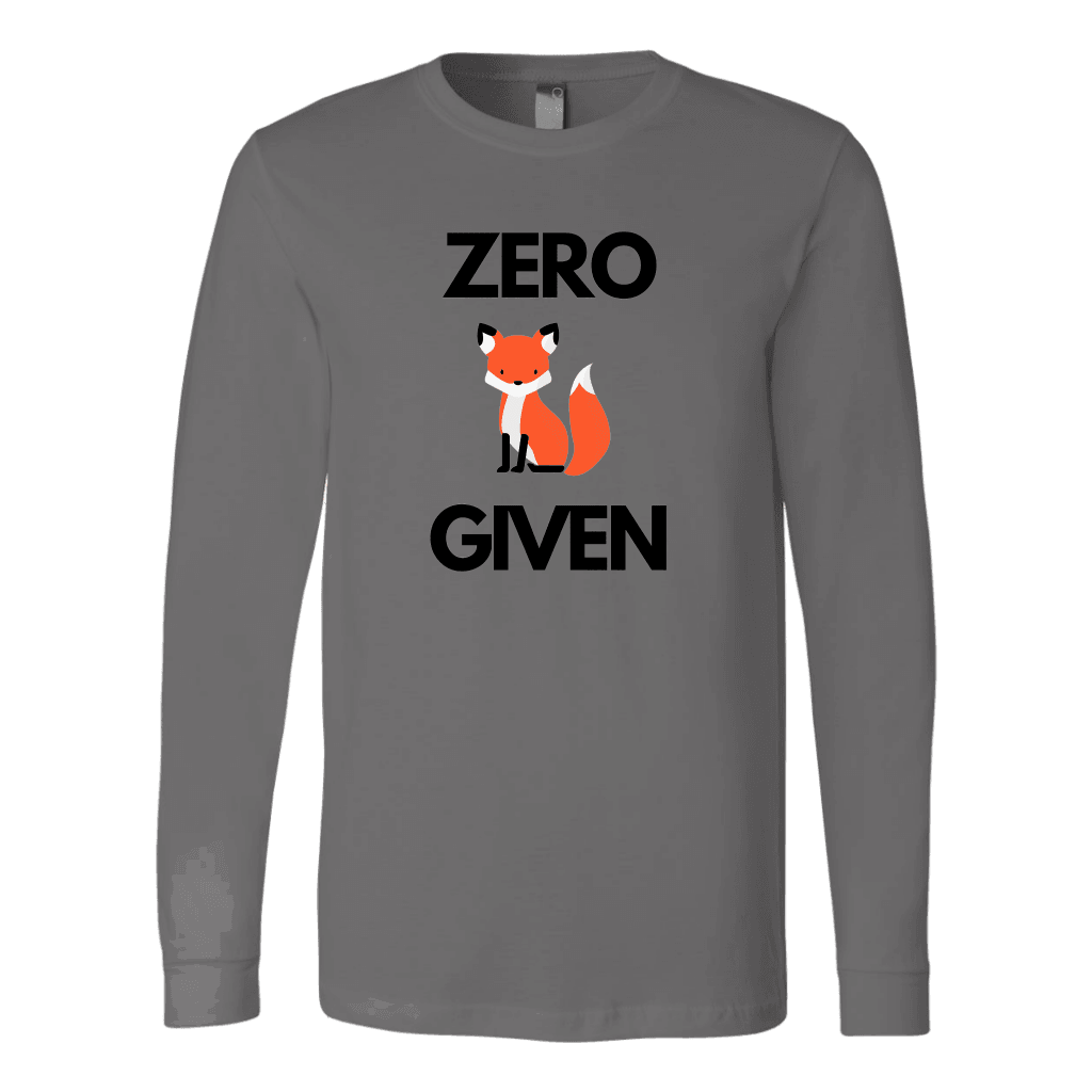 Zero Fox Given T-shirt Canvas Long Sleeve Shirt Asphalt S