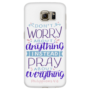 Don't Worry!, Philippians 4:6 Phone Cases Galaxy S6