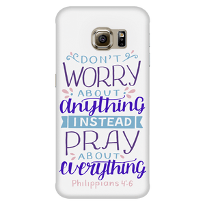 Don't Worry!, Philippians 4:6 Phone Cases Galaxy S6 Edge