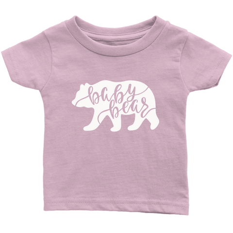 Baby Bear Shirts and Onesies T-shirt Infant T-Shirt Light Pink 6M