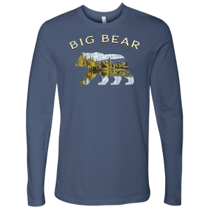 Big Bear V.1 Men's Shirts T-shirt Next Level Mens Long Sleeve Indigo S