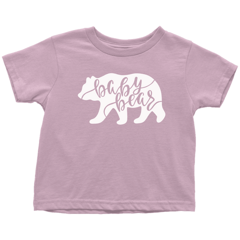 Baby Bear Shirts and Onesies T-shirt Toddler T-Shirt Pink 2T