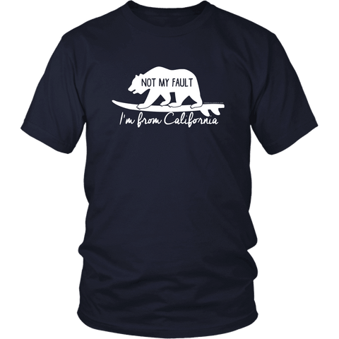Image of From California T-shirt District Unisex Shirt Navy S