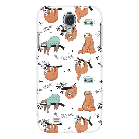 White Sloth Collage Phone Case