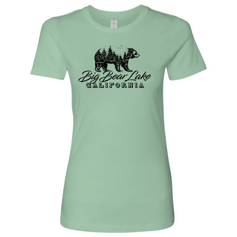 Image of Big Bear Lake California V.2, Womens, Black T-shirt Next Level Womens Shirt Mint S