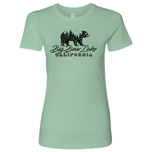 Big Bear Lake California V.2, Womens, Black T-shirt Next Level Womens Shirt Mint S