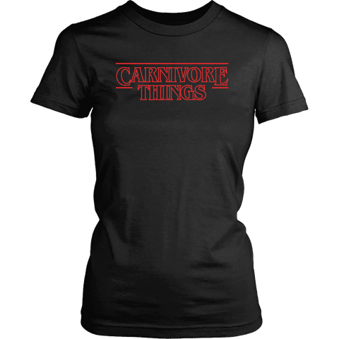 Image of Carnivore Things T-shirt District Womens Shirt Black XS