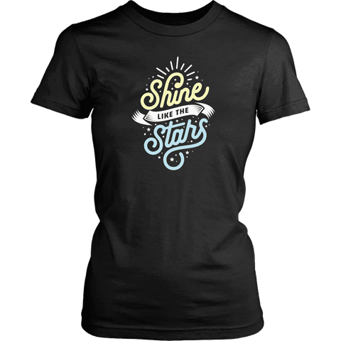 Shine Like The Stars T-shirt District Womens Shirt Black XS