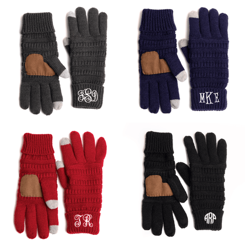 Image of Monogramed Gloves | Personalized For You Monogrammed Personalized Products Red Fancy