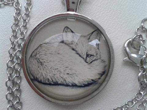 Image of Fox Pendant with Silver Necklace Pendant Necklaces